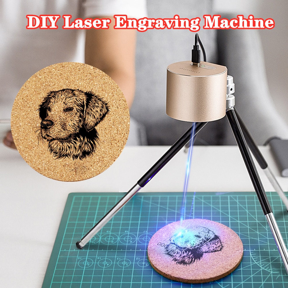 Mini 1.6W Compact Laser Engraving Machine DIY Wood Router Laser Engraving Portable Etching Cutting Machines For Woodworking Tool
