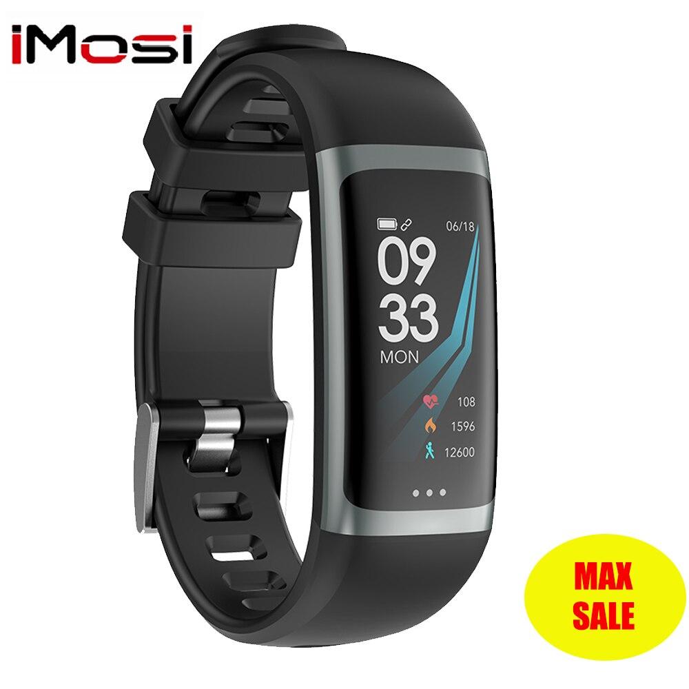 Imosi G26 G26S سوار ذكي P67 للماء القلب معدل ضغط الدم الأكسجين سوار لياقة بدنية متعددة الرياضة وضع الذكية معصمه