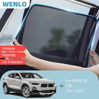 magnetic car sunshade front windshield door mesh frame curtain for bmw x2 f39 2017 2021 vehicle foldable side window sun visor
