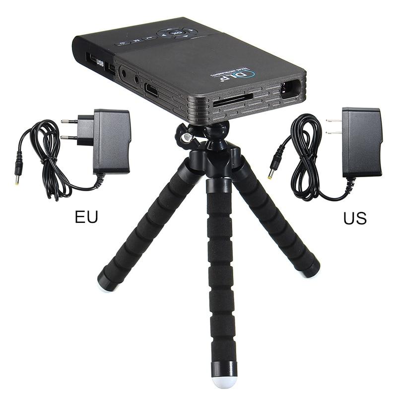 Proyector de cine en casa Android 4,4 Mini proyector inteligente C2 DLP WiFi 1 + 8G BT4.0 para proyector de bolsillo portátil bluetooth LED DLP