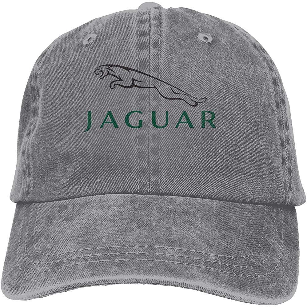 Gorro Vintage ajustable para hombre, diseño de papá, sombrero Jaguar a la moda con logotipo, gorra con correa trasera, gris