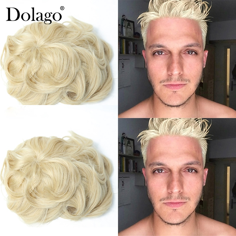 Men Toupee PAPY 9X6 #22R Super Thin Mono Transparent Poly Hair Repacement Hair Prosthesise Dolago Silk Base Hair Blonde