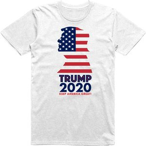 President Donald Trump 2020 Keep America Great! Republican Presidential Campaign USA Flag Classic T-Shirt