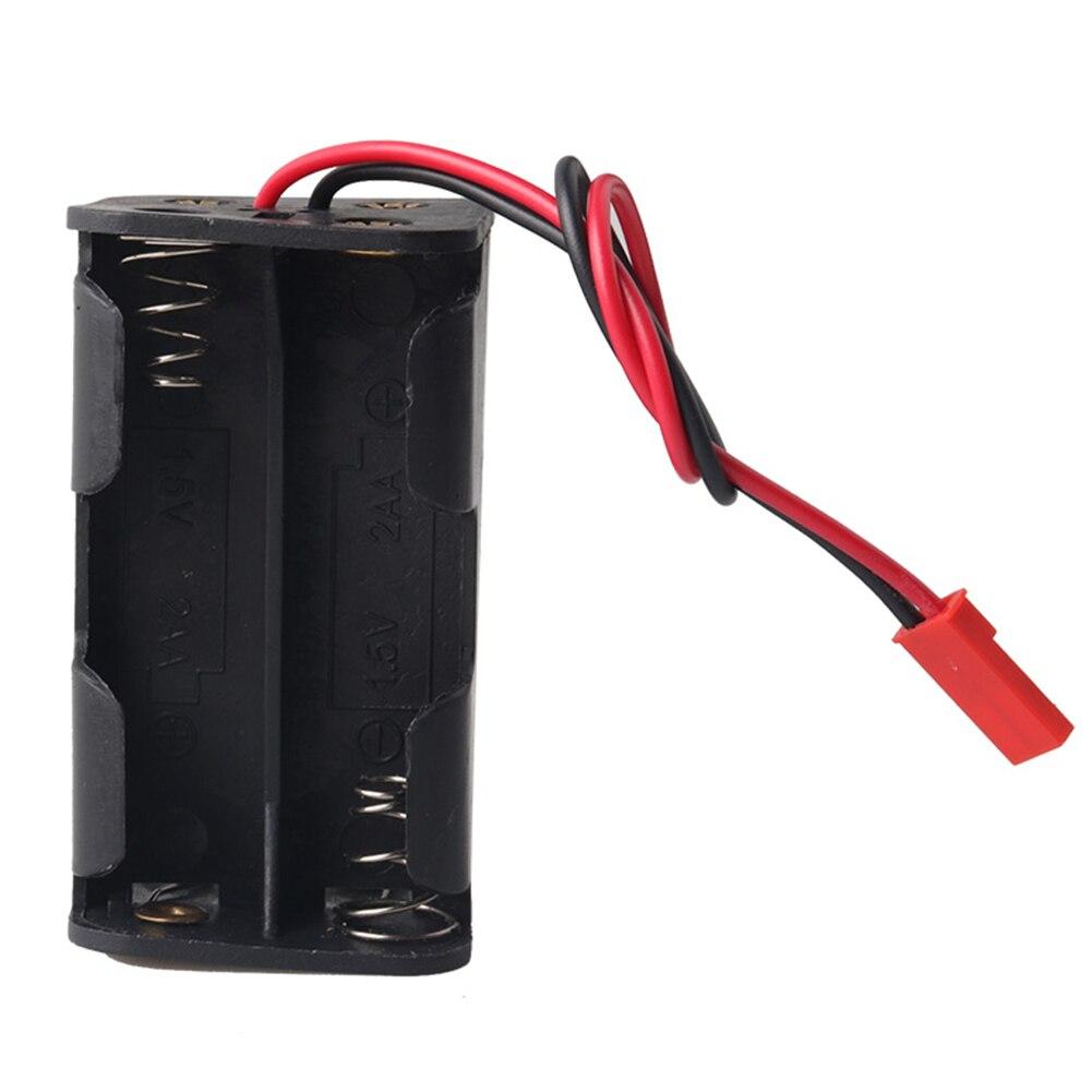 HSP 02070 caja para baterías AA estuche protector plástico compartimiento de batería contenedor negro para coche 1/8 1/10 RC
