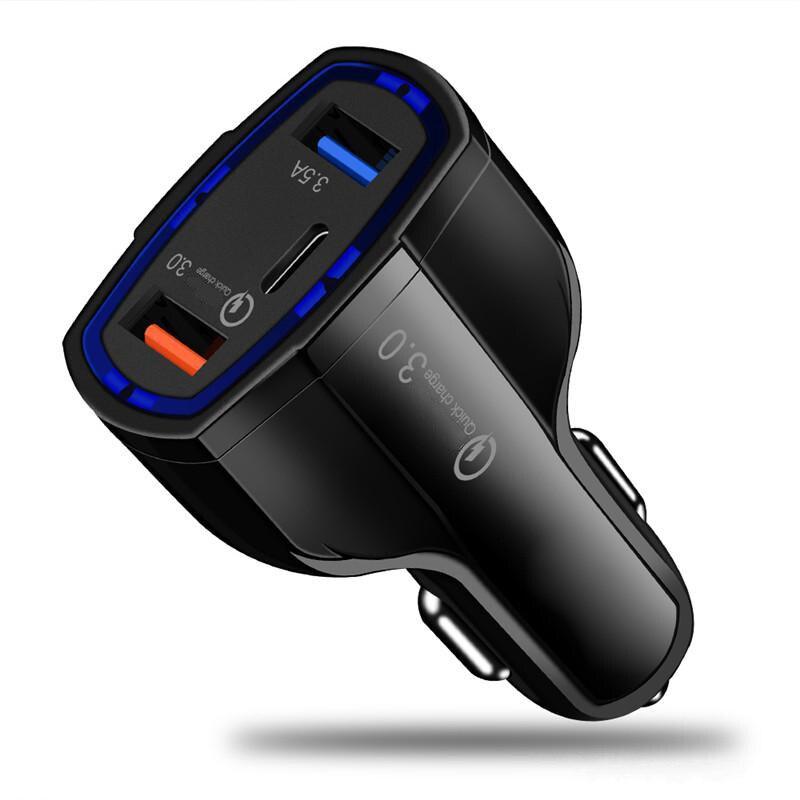Mayitr Dual USB Fast Charging QC Phone Charger Socket Adapter Car 3 Ports Phone USB Charger Cigarette Lighter Socket Adapter meizu mu11 36w dual usb ports fast charging travel charger