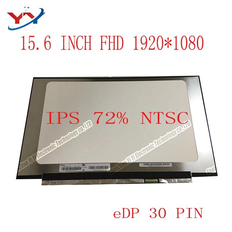 "15.6 ""o quadro estreito fhd ips conduziu b156han02.0 N156HCE-EN1/eba NV156FHM-N35/n62 b156han02.1/02.2 LP156WF9-SPC1 nenhum furo do parafuso"