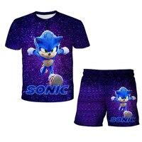 Футболка и шорты для мальчиков, с коротким рукавом