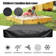 مع الرباط مربع واقية الغبار مقاوم للماء رمل غطاء أكسفورد القماش القبو ألعاب أطفال sandhole بركة الشمس الظل
