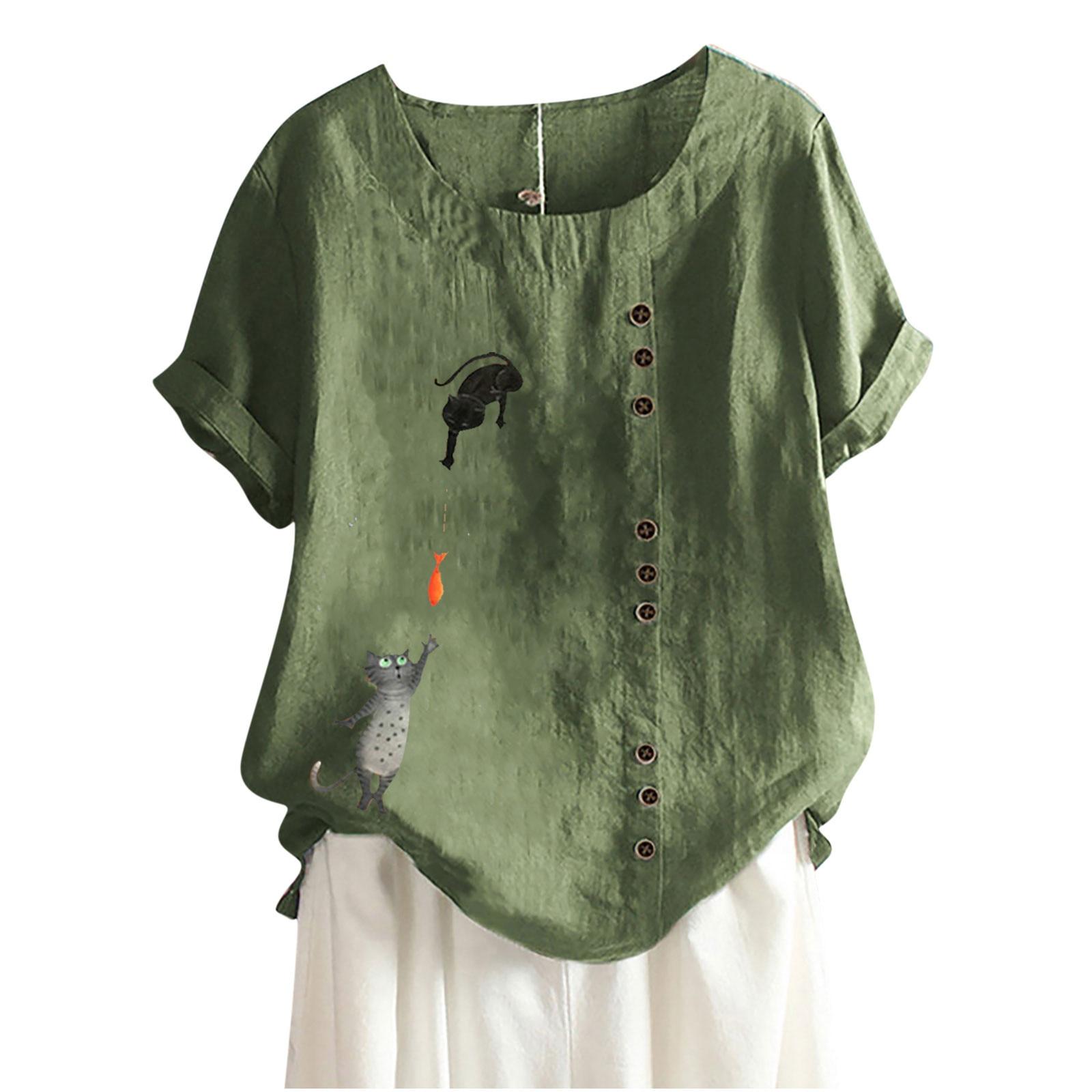 Sagace T Shirt Women Harajuku Fashion Cat Print T-shirt O-neck Short Sleeve Blouse Top Tee Vetement Femme 2021 Футболка Женский
