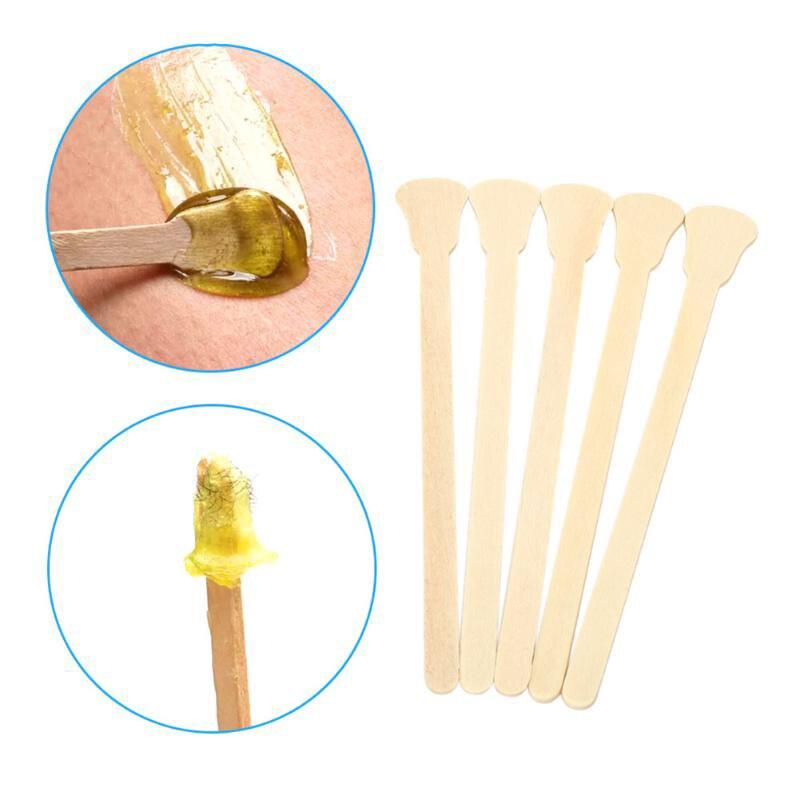 50/100 Pcs Depilação Cera Espátula De Madeira Língua Depressor Descartáveis Varas De Bambu Kit Multifuncional Para As Mulheres
