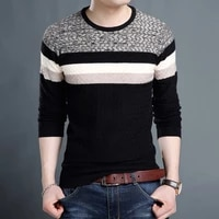 lux angenr mens sweater 2020 autumn winter youth fashion pullover men patchwork sweater loose casual sweaters men clothing