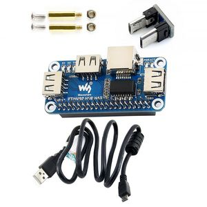 1 шт. Raspberry Pi 4B/Zero W USB для Ethernet RJ45 Ne twork Port usb-хаб HUB