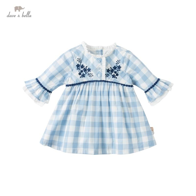 """DBS16258 нижнее белье в стиле бренда dave bella/весна, сказочное детское платье для девочек милое платье в цветочек, в клетку, платье с принтом для девочек модная детская одежда Вечерние платья для маленьких детей в стиле """"Лолита"""", одежда Платья для девочек    АлиЭкспресс"""