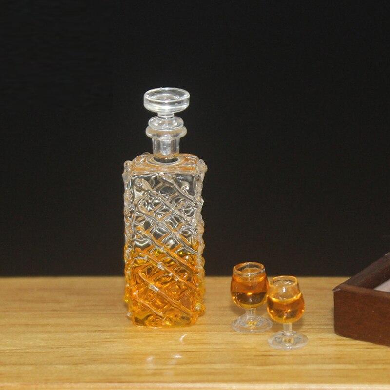 1:12 casa de muñecas miniatura accesorios Mini juego de botellas de vino bebidas de simulación juguetes modelo para muñeca casa decoración whisky vino