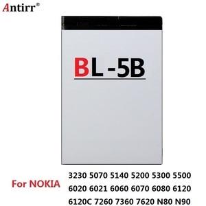 Antirr original BL-5C BL-5B BL-5F BL-5K BL-5J BL-5CT bateria de substituição do telefone móvel para nokia li-ion baterias recarregáveis