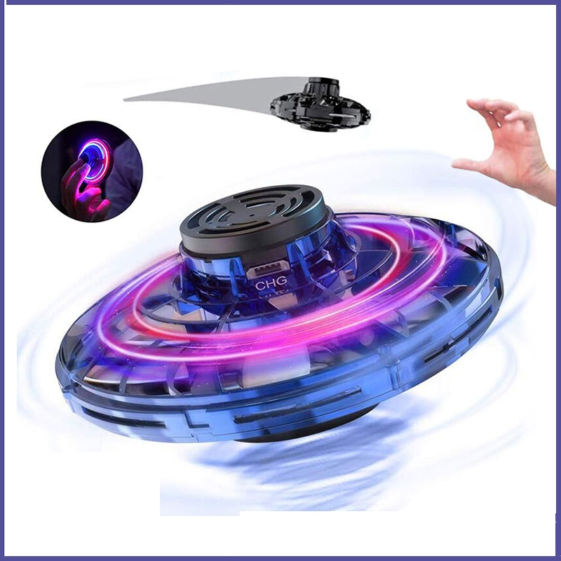 Children's toys Mini UFO Flying Aircraft Toys fingertip gyroscope finger spinning suspending black technology Drone toys for Kid enlarge