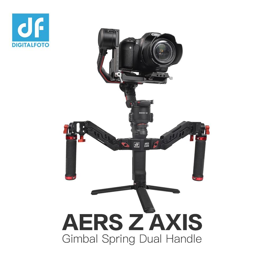 DIGITALFOTO 5 كجم الدب آريس Z Axi Gimbal قبضة الربيع المزدوج مقبض جبل ل DJI RS2 RSC2 Ronin S SC رافعة 2 موزا الهواء 2 Feiyu AK4000