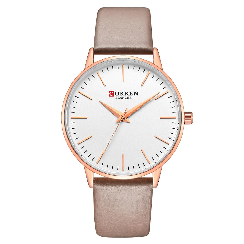 CURREN Womens Watch Fashion Casual Girl Watch Unique Leather Strap Exquisite Lady Quartz Wristwatch Waterproof Relogio Feminino enlarge