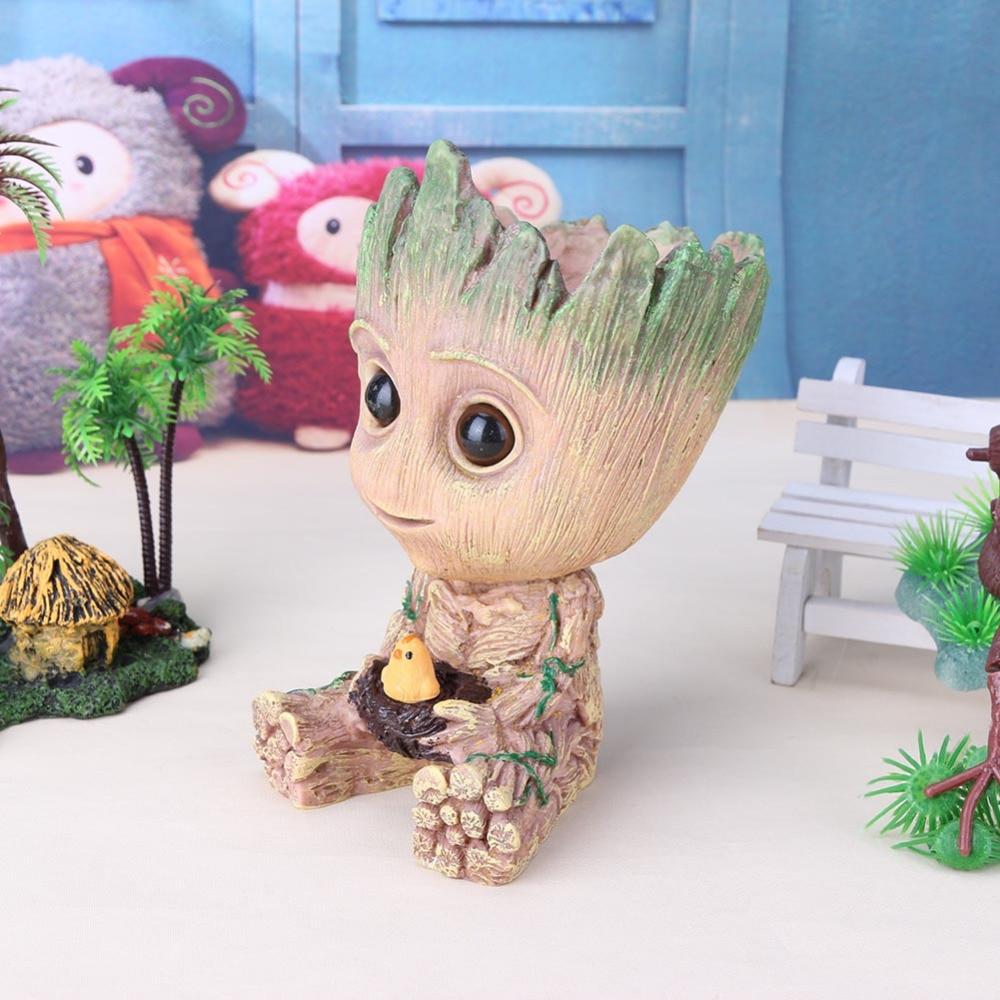 Maceta de Groot para bebé maceta de flores plantador figuras de acción juguete árbol hombre pluma macetas de año nuevo regalo VIP Dropshipping