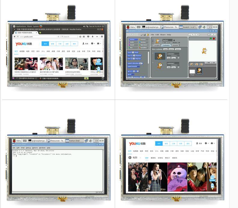 5 بوصة LCD HDMI اللمس شاشة عرض TFT LCD لوحة وحدة 800*480 ل الموز بي التوت بي 4B التوت بي 3 نموذج B / B +