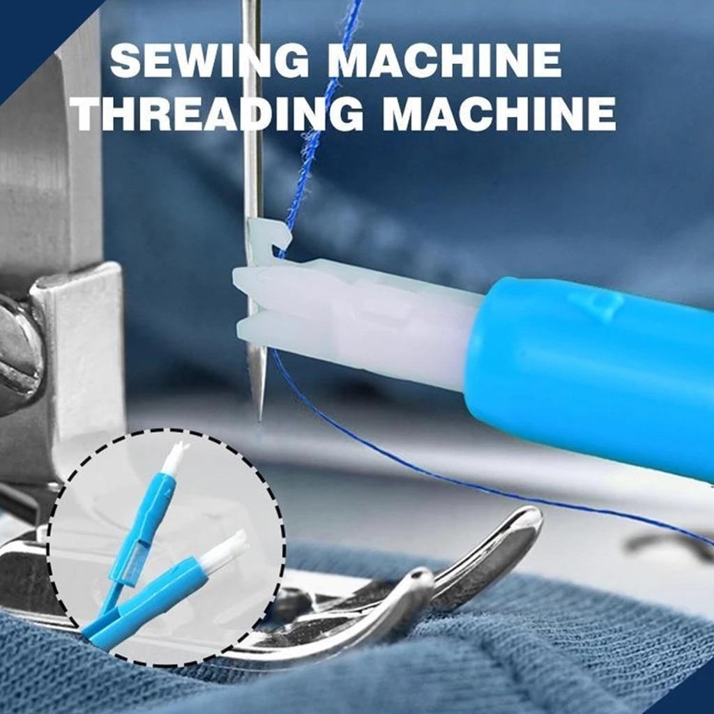 Hogar máquina de coser enhebrador automático Leador aguja cambiador de costura prensatelas pie jardín manualidades hogar 2019