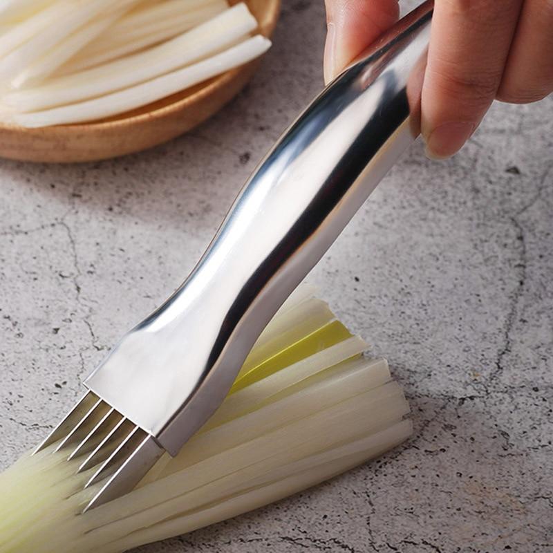 Нож для лука, чеснока, овощей, резак для резки лука, чеснока, томатов, измельчители, слайсер, инструменты для готовки, кухонные аксессуары