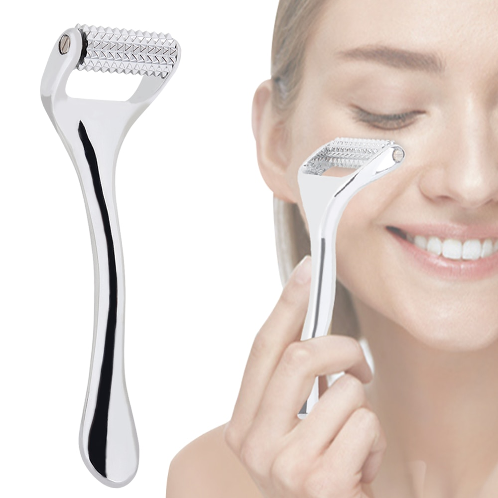 New Face Roller Zinc Alloy Derma Roller Painless Micropin Facial Manual Massager Skin Care Tool Wrinkle Remover Body Treatment