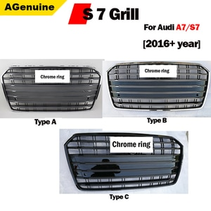 Hi-end S7 Chrome Black Front Grills Front Honey Mesh Grille For Car Styling Honeycomb Mesh Grills For A7 S7 2016+