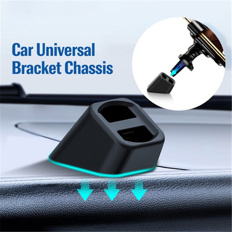 Universal Wireless Car Charger Dashboard Base Car Mobile Holder Air Outlet Clip Accessories