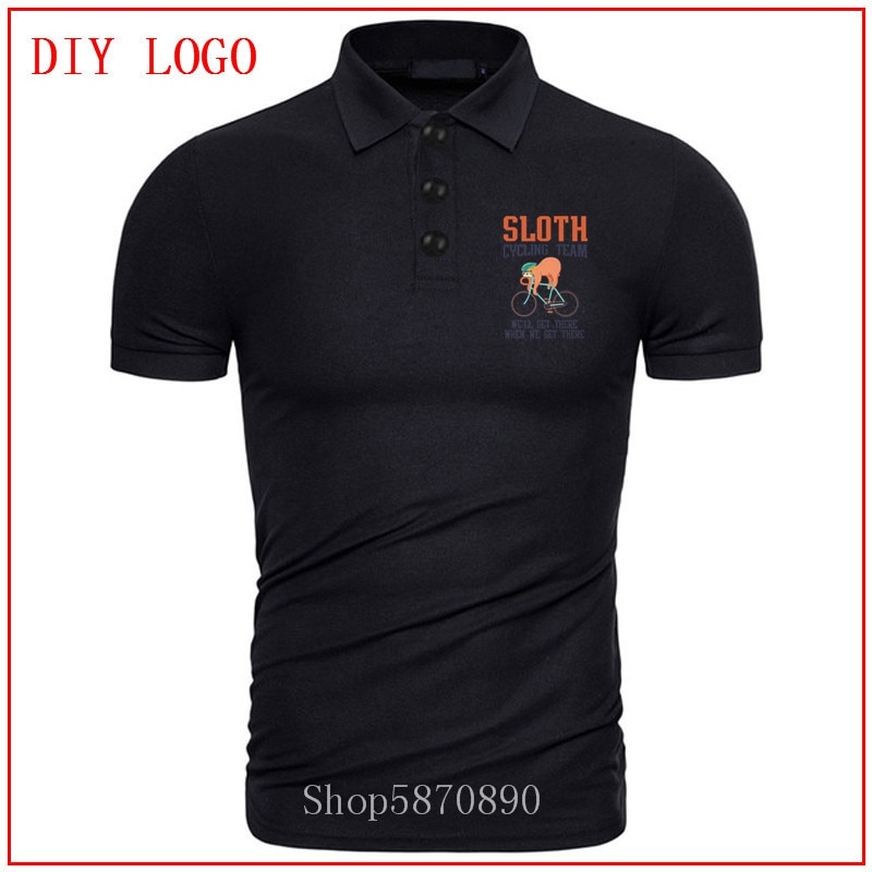 2020 hombres perezoso ciclismo equipo polo camisa juvenil Casual impresión pulóver camiseta homme verano hombres 100% ropa de algodón personalizada