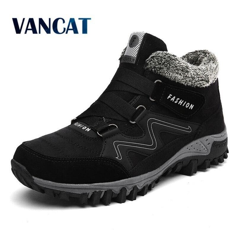 فانكات-حذاء شتوي رجالي مع فرو 2019, أحذية الثلج الدافئة ، أحذية العمل ، أحذية رجالية ، موضة المطاط ، أحذية الكاحل 39-46
