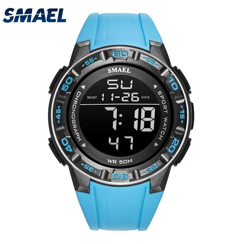 Digital para Homem Relógios de Marca Relógio de Pulso Novo Relógio Smael Luxo Waterprrof Militar Luz Led Reloj 1508 Relógios Masculinos Esporte 50m