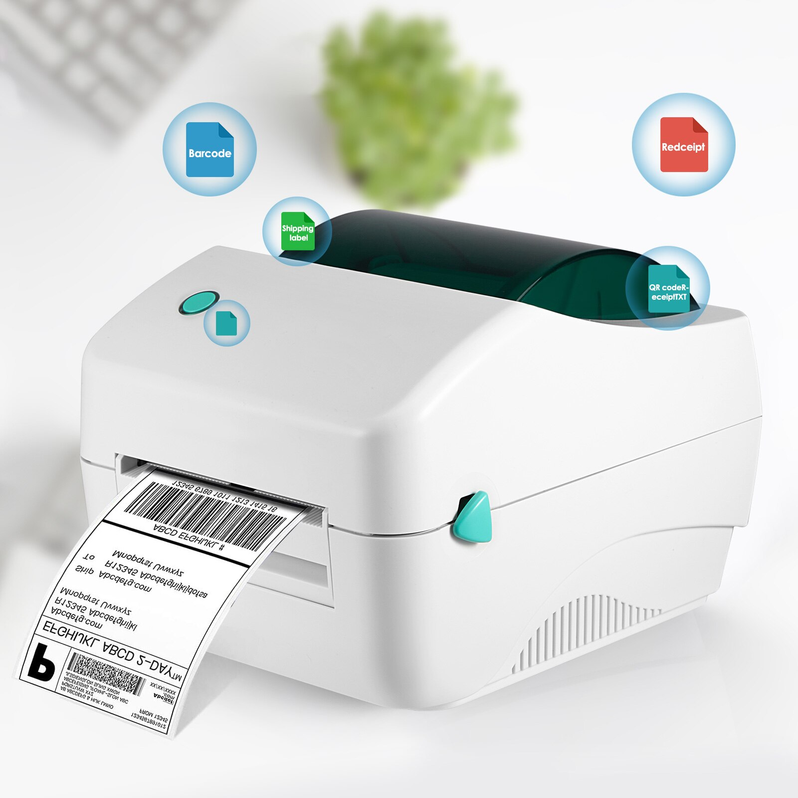 Portable Bluetooth Label Printer Wireless Thermal Maker for Store Shipping Mini