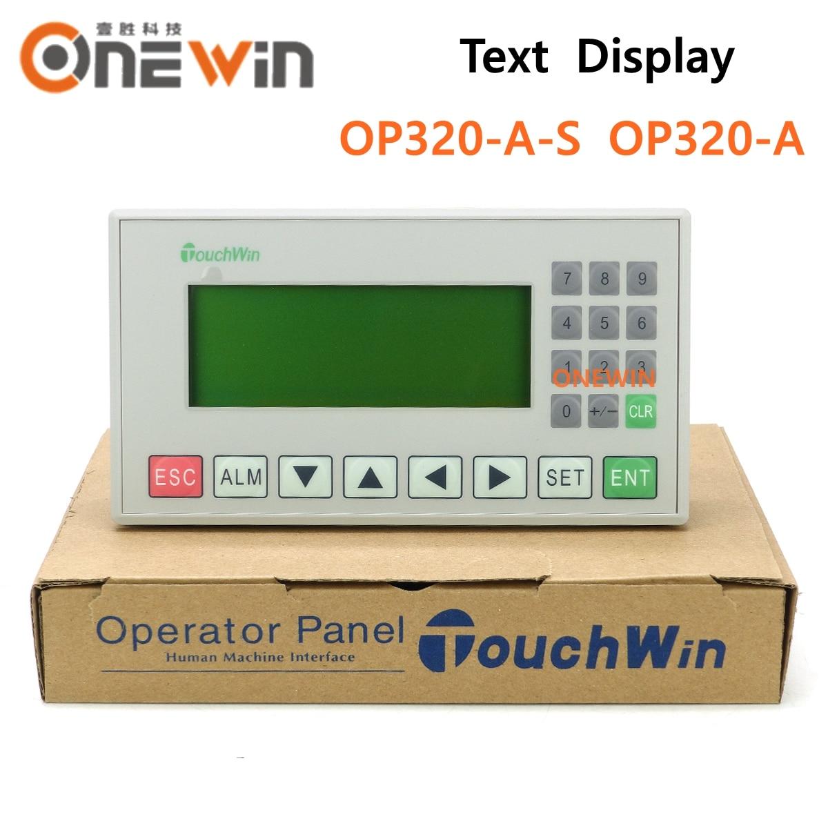 TOUCHWIN XINJE OP320-A-S OP320-A النص عرض دعم STN LCD لون واحد 20 مفاتيح دعم 232 485 الاتصالات منافذ