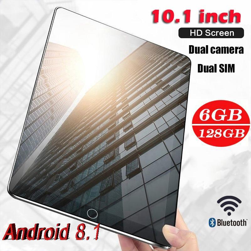 Tabletas de 10,1 pulgadas con diez núcleos, 6G + 128G, Android 8,1, WiFi, Dual SIM, cámara Dual de 13,0 MP, IPS, Bluetooth, 4G, WiFi
