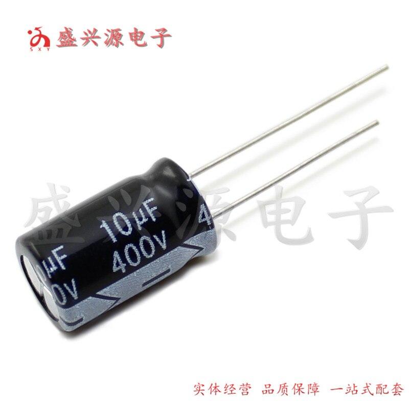 400v10uf 400v alta qualidade capacitor eletrolítico de alta vida 10x13 10x17