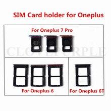 Recambio de bandeja para tarjeta SIM partes bandeja con ranura para tarjeta SIM soporte adaptador para Oneplus 6 6T 7 Pro