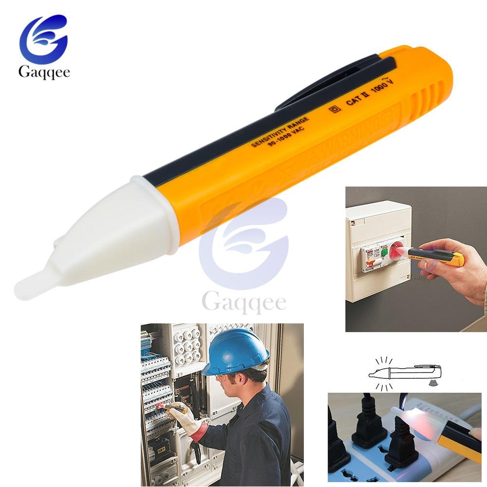 Electric Indicator 90 1000v Non Contact Socket Wall Ac Power Outlet Voltage Detector Sensor Tester Pen Led Light Ac 110v 220v Voltage Meters Aliexpress