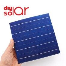 10 50 100 pièces 4.79 W 156x156 MM Poly cellules solaires 6x6 Grade A polycristallin PV bricolage photovoltaïque Sunpower C60 panneau solaire