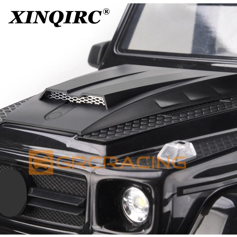 It is suitable for 1:10 RC tracked vehicle traxxas trx-6 g63 trx-4 G500 Car accessories hidden shell column foldable engine hood enlarge