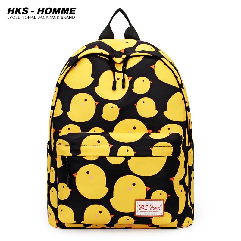 Canvas Schoolbags For Teenage Girls Women New Trend Female Backpack Printing Women Backpack Student Shoulder Bag Laptop Backpack