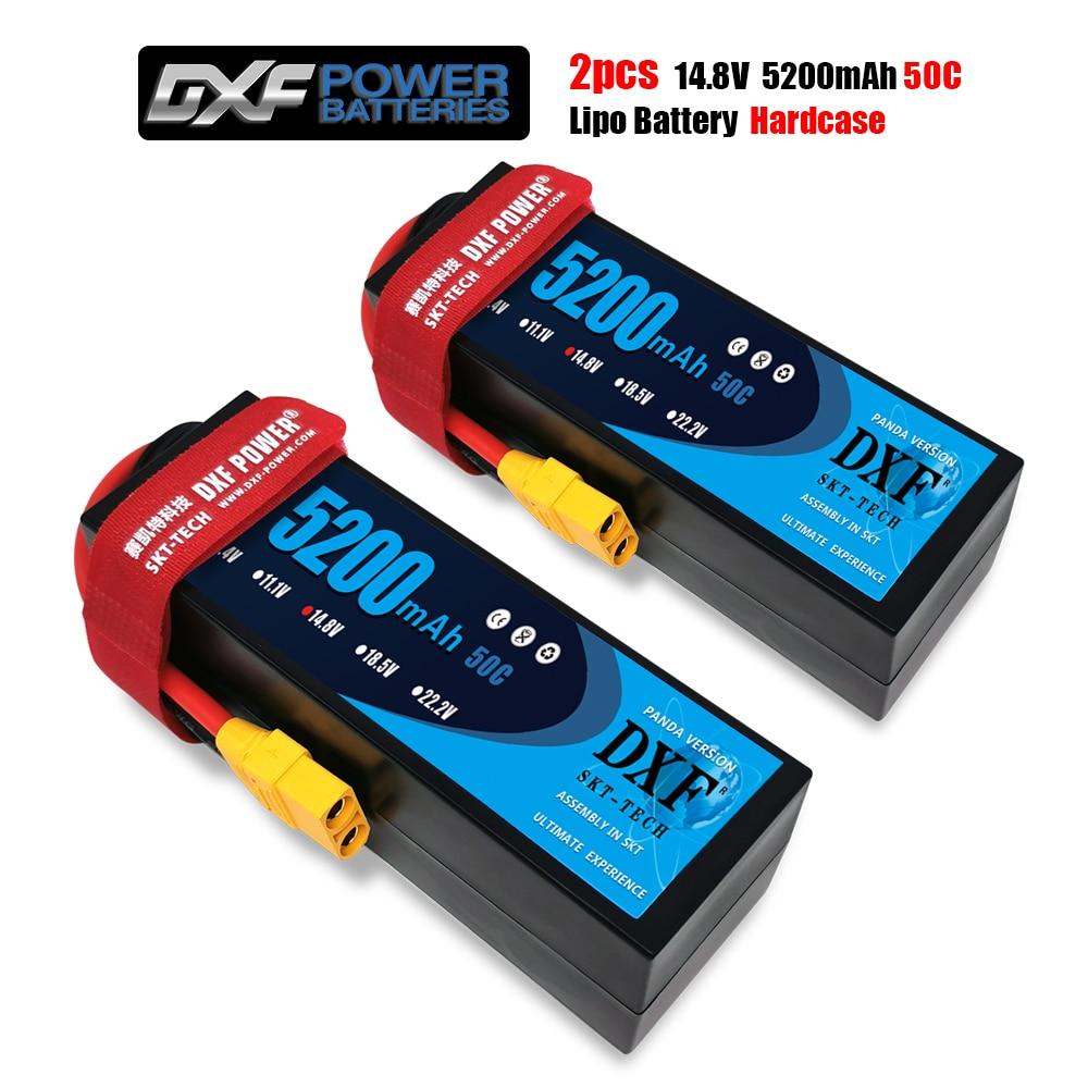 2PCS DXF LiPo Battery 4S14.8V 7500mah 6500mAh 5200mAh 140C 100C 50C HardCase  For RC Car Truck Truggy FPV Airplane Boat Buggy enlarge