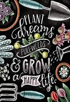 plant and grow happy life metal tin sign retro wall decor signs 8x12 inch