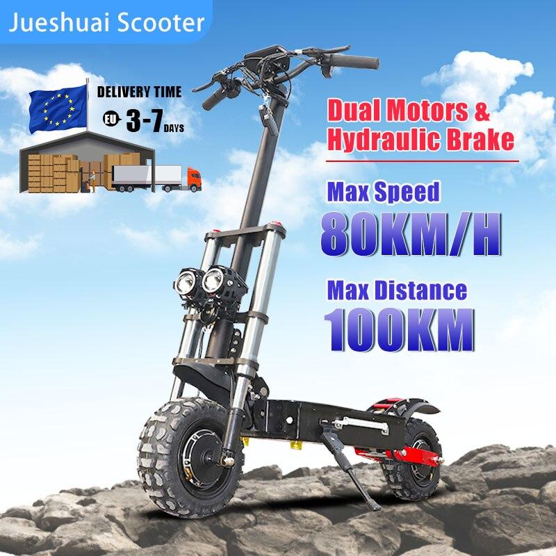 Patinete eléctrico plegable con asiento para adultos, 100KM de distancia máxima, 3200W,...
