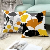 fuwatacchi nordic style cushion cover polyester simple and elegant pillow cover for car sofa home room decorative pillowcase