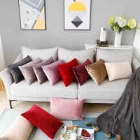 rectangular pillow case solid color velvet pillowcase home sofa cushion cover car dutch cashmere pillow case bedroom decorations