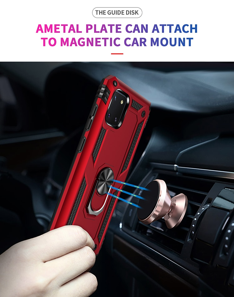 For Samsung Galaxy A10 A20 A51 A71 Note 10 S20+ Armor Hybrid Rugged Kickstand Shockproof Hard Back Case TPU+Plastic Phone Cover enlarge