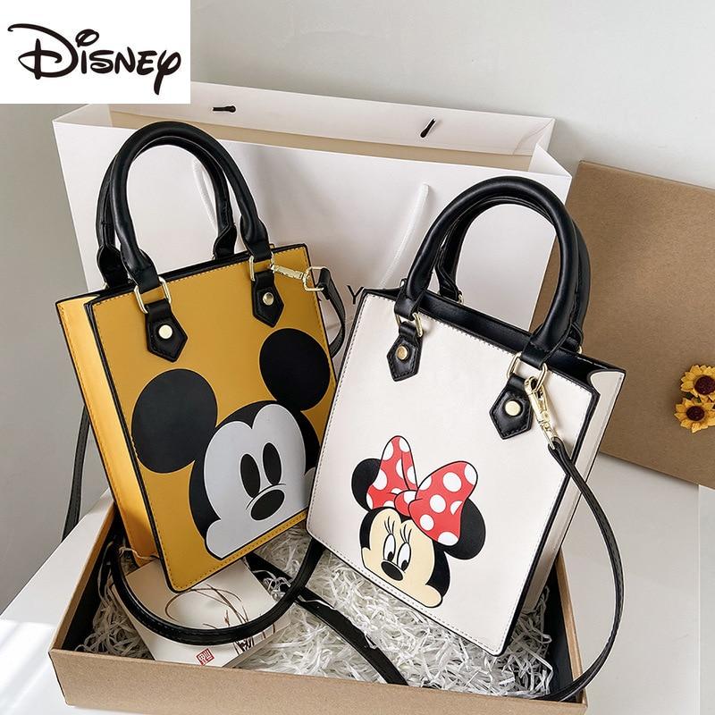 2021 New Disney Mickey Lady Shoulder Bag Cartoon Image Multifunctional Zipper PU Large Capacity Fashion Casual Lady Handbag