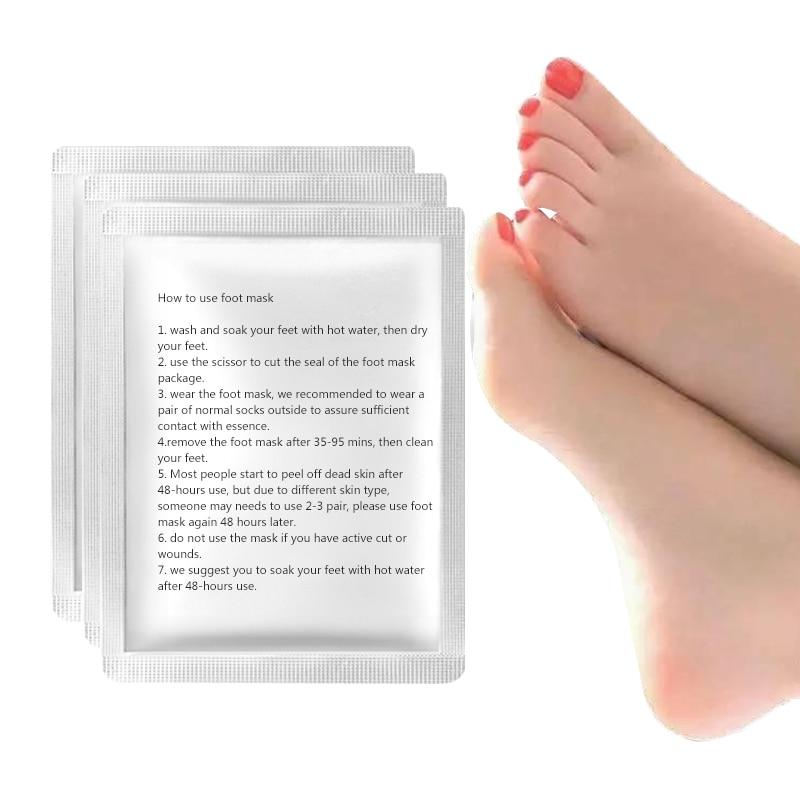 24pcs=12Pair Foot Mask Peeling Renewal Mask Remove Dead Skin Exfoliating Feet Mask Socks for Pedicure Heel Socks Foot Care