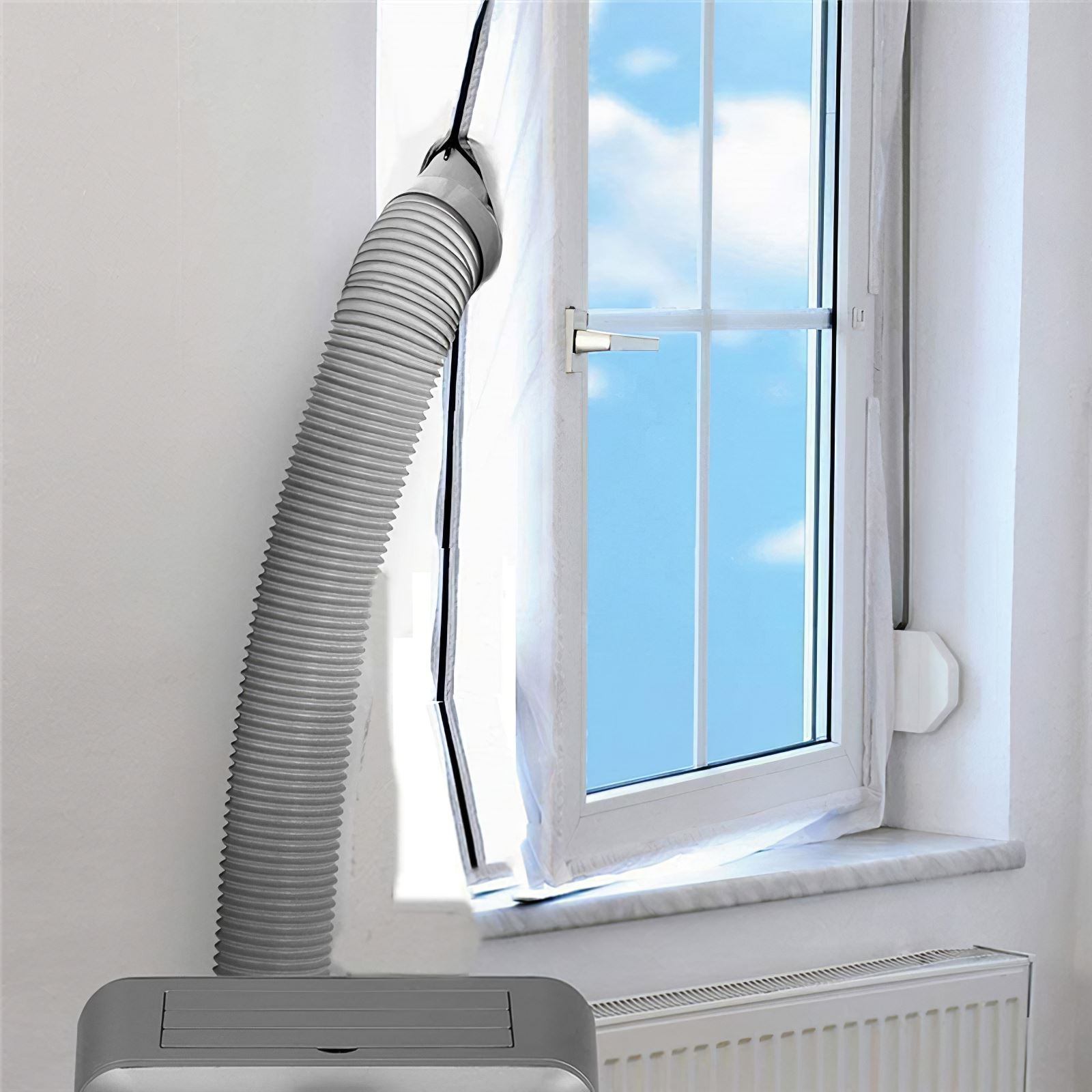 كفاءة شركة تكييف الهواء نافذة غطاء من القماش 500 سنتيمتر نافذة ختم انفصال Clothe غطاء تكييف الهواء نافذة السدادة
